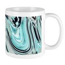 abstract turquoise swirls Mugs