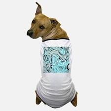 abstract turquoise swirls Dog T-Shirt