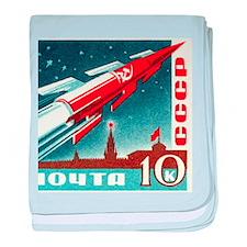 Sputnik Soviet Union Russian Space Ro baby blanket