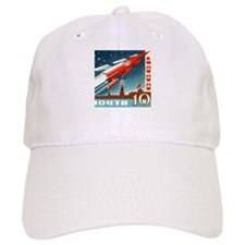 Sputnik Soviet Union Russian Space Rocket Laun Baseball Cap