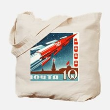 Sputnik Soviet Union Russian Space Rocket Tote Bag