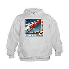 Sputnik Soviet Union Russian Space Roc Hoodie