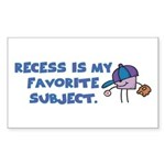 Teacher & Student Gifts Rectangle Sticker