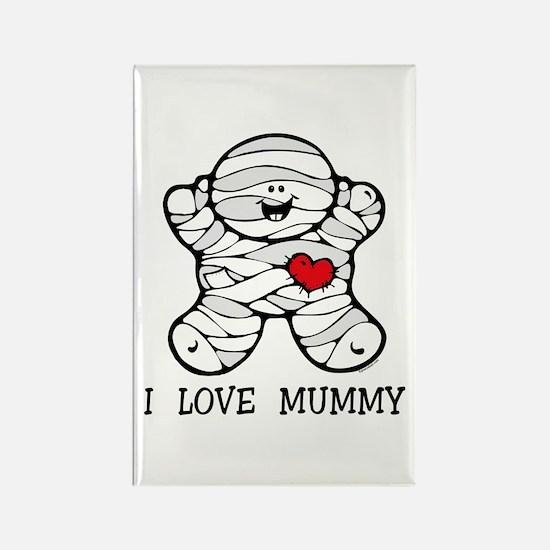 I Love Mummy Rectangle Magnet