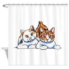 2 Manx Shower Curtain