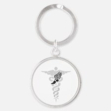 Podiatry Caduceus Keychains