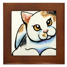 Calico Cutie Framed Tile