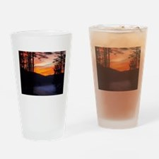 The Road Less Traveled Drinking Glass