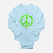 Flower Hippie Peace 60's Sign Psychedeli Body Suit