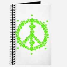 Flower Hippie Peace 60's Sign Psychedelic Journal