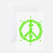 Flower Hippie Peace 60's Sign Psych Greeting Cards