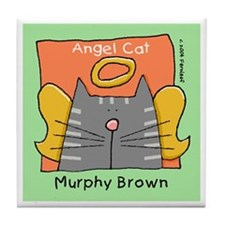 Gray Tabby Murphy Brown Memorial Art Tile