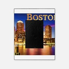 Boston Harbor at Night text BOSTON c Picture Frame