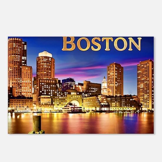 Boston Harbor at Night te Postcards (Package of 8)
