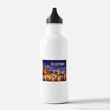 Boston Harbor at Night Water Bottle