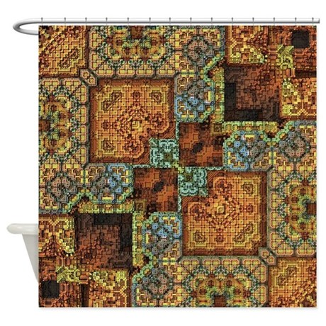 Patchwork Pattern Shower Curtain By Admin CP73173261
