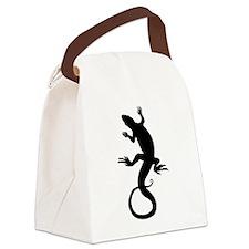 Lizard Art Canvas Lunch Bag
