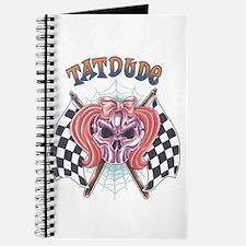 Tatdude Girl Skull with Flags Journal