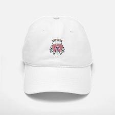 Tatdude Girl Skull with Flags Baseball Baseball Cap