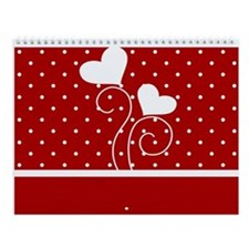 Hearts and Polka Dots Wall Calendar