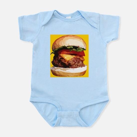 yellow hamburger Body Suit