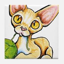 Lilac Cream Devon Tile Coaster
