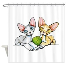 Double Devons Shower Curtain