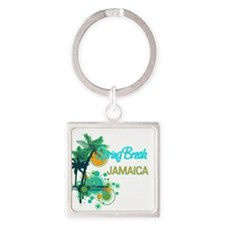 Palm Trees Circles Spring Break JAMAICA Keychains