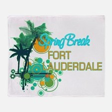 Palm Trees Circles Spring Break FT Throw Blanket