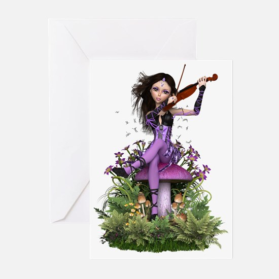 Amethyst Fairy ~ Summer Melody Greeting Cards