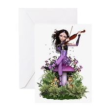 Amethyst Fairy ~ Summer Melody Greeting Cards