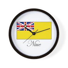 Niue - Flag Wall Clock
