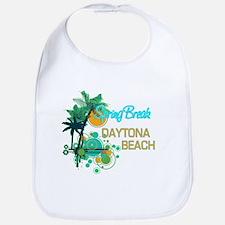 Palm Trees Circles Spring Break DAYTONA BEACH Bib