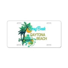 Palm Trees  Circles Spring  Aluminum License Plate
