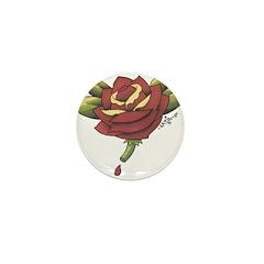Rose Tattoo Mini Button
