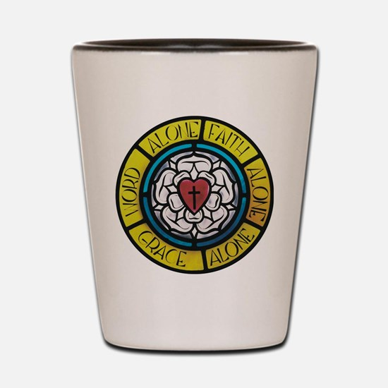 Luther's Rose Shot Glass
