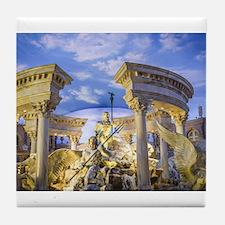 caesar statue ancient romans art Tile Coaster