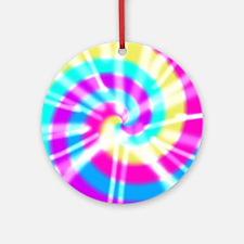 Tye Dye Pattern Ornament (Round)