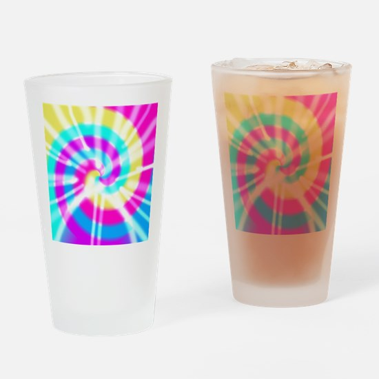 Tye Dye Pattern Drinking Glass