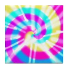 Tye Dye Pattern Tile Coaster