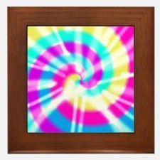 Tye Dye Pattern Framed Tile
