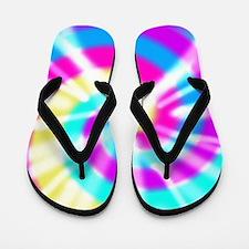Tye Dye Pattern Flip Flops