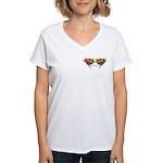 Tattoo Roses Women's V-Neck T-Shirt