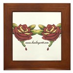 Tattoo Roses Framed Tile