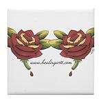 Tattoo Roses Tile Coaster
