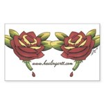 Tattoo Roses Rectangle Sticker