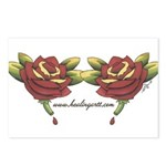 Tattoo Roses Postcards (Package of 8)