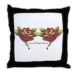 Tattoo Roses Throw Pillow