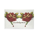 Tattoo Roses Rectangle Magnet (100 pack)