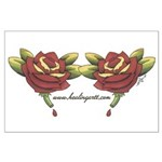 Tattoo Roses Large Poster